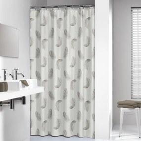 Sealskin douchegordijn textiel Plumes 180x200cm taupe CO233471367