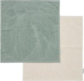 Rivièra Maison - Les Fleurs Kitchen Towel 2 pieces - Kleur: groen