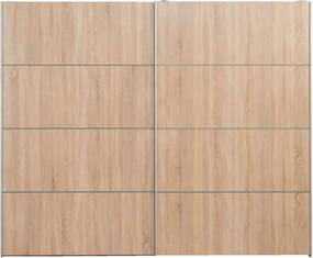 Schuifdeurkast Verona XL - eikenkleur - 200,4x242,7x59 cm - Leen Bakker