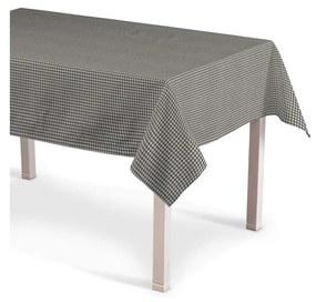 Rechthoekig tafelkleed, grijs-ecru
