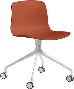 Hay About A Chair AAC14 Stoel Met Wit Onderstel Orange