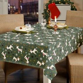Kerst Tafelzeil Reindeer Groen