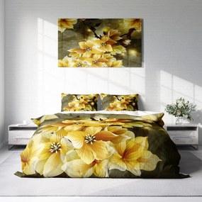 DLC Yellow Flower 1-persoons (140 x 220 cm + 1 kussensloop) Dekbedovertrek