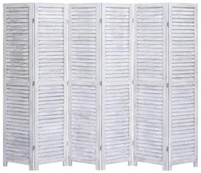 Medina Kamerscherm met 6 panelen 210x165 cm hout grijs