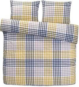 Comfort dekbedovertrek Joris - geel - 200x200/220 cm - Leen Bakker