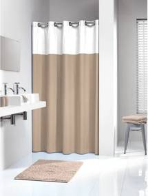 Douchegordijn Textiel Sealskin Double Polyester/Katoen Linnen 180x200cm
