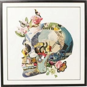 Kare Design Art Afbeelding Van Kleurrijke Schedel