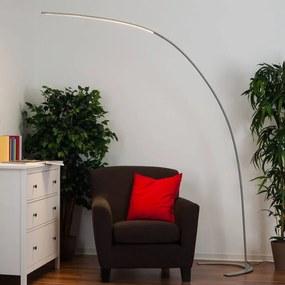 Zilveren LED-vloerlamp Danua - lampen-24