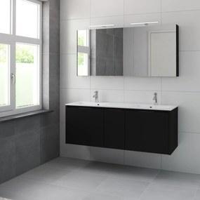 Matera meubelset spiegelkast 150cm zijdezwart