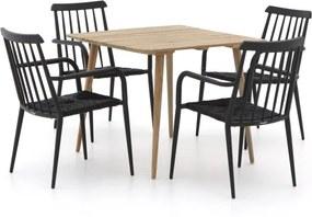 Manifesto Demonte/ROUGH-K 90cm dining tuinset 5-delig stapelbaar - Laagste prijsgarantie!
