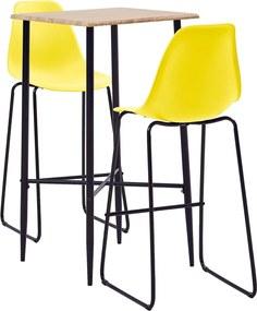 3-delige Barset kunststof geel