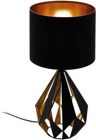 EGLO tafellamp Carlton 5 - zwart/koper - Leen Bakker