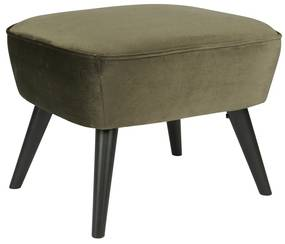 Woood Sara Velvet Hocker Groen