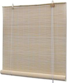 Rolgordijn Bamboe 120 x 220 cm (Naturel)