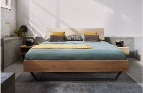 Goossens Bedframe Slade, Bedframe 140 x 200 cm hoofdbord organisch