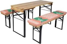 Picknicktafel en biertafel kussenpakket Nina 200 cm - 2 stuks- tweezijdig te gebruiken