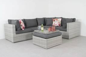 Suns Parma loungeset white grey - exclusief middel