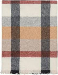 Plaid terracotta, wit, grijs, ruiten, alpaca wol: Intersection