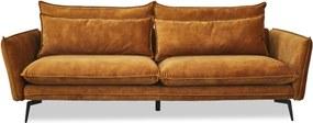 Feel Furniture | Bank Elin breedte 232 cm x diepte 85 cm x hoogte 84 cm okergeel zitbanken materiaal bekleding : stofmateriaal | NADUVI outlet