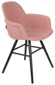 Zuiver Albert Kuip Soft Gestoffeerde Kuipstoel Met Arm Roze