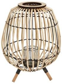 Bamboe lantaarn op voetjes - ⌀27x37 cm
