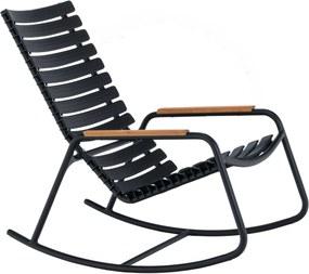 Houe Clips schommelstoel black bamboo