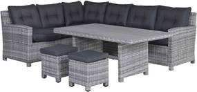 Garden Impressions Alaska lounge dining set links - grijs
