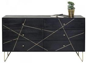 Kare Design Gold Vein Zwart Ladendressoir - 145x45x82cm.