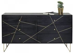 Kare Design Gold Vein Zwart Ladendressoir - 145x45x82cm.