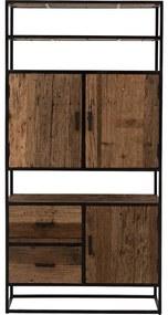 Goossens Eco Opbergkast Otik, 3 deuren 2 laden 3 open vakken