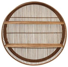 Wandkastje bamboe rond - ø75x13 cm