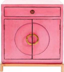 Kare Design Disk Roze Dressoir - 76x45x86cm.