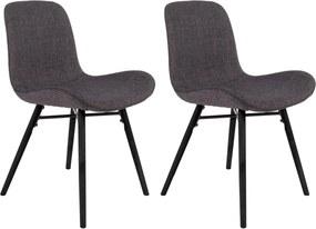 Vergaderstoel Lester - Set van 2 stoelen - Antraciet