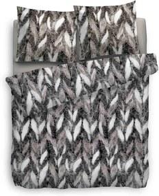 Heckett & Lane dekbedovertrek Carol - zwart/wit - 260x200/220 cm - Leen Bakker