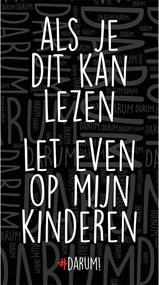 #DARUM! Strandlaken - Als je dit kan lezen let even op mijn kinderen