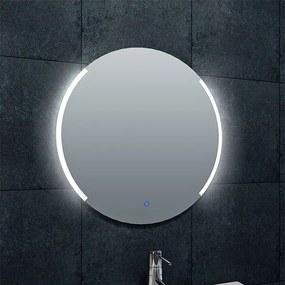 Badkamerspiegel Wiesbaden Rond 60x60cm Geintegreerde LED Verlichting Verwarming Anti Condens Touch Lichtschakelaar Dimbaar