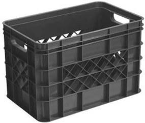 Square opberg-/boodschappenkrat 26 liter - antraciet - 26,1x25,6x40,6 cm - Leen Bakker