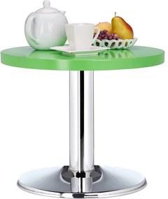 Ronde bijzettafel - kleine salontafel - kleurrijke kindertafel - MDF en metaal groen