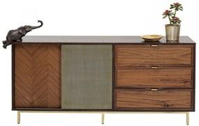 Kare Design Arizona Dressoir Walnoot En Messing - 160x45x76cm.