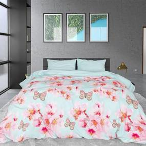 Sleeptime Elegance Butterflies & Flowers - Verwarmend Flanel - Blauw Lits-jumeaux (240 x 200/220 cm + 2 kussenslopen) Dekbedovertrek