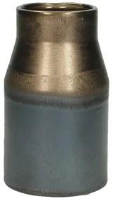 Vaas keramiek - bruin - 9x15 cm