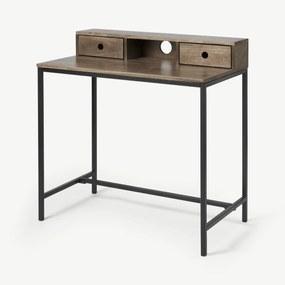 Lomond compact bureau, mangohout en zwart