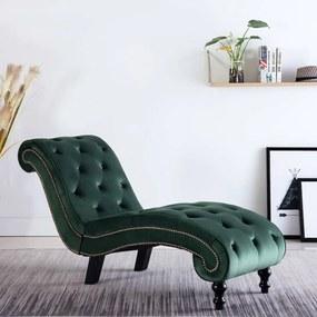 Chaise longue fluweel groen