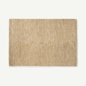 Mumbi vloerkleed van wol en jute, groot, 160 x 230 cm, lichtbeige