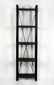 Nancy's Camden Opbergkast - Wandkast - Boekenkast- Mangohout - 55 x 40 x 200
