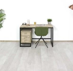 Steigerhouten bureau Odem met ladeblok
