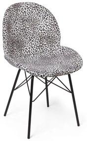 Eetkamerstoel luipaard print - 53x50x84 cm