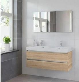 Bruynzeel Palitano badmeubelset 120x56.5x46cm spiegel dubbele kom bardolino 224241K