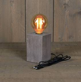 Tafellamp hout 10x15 cm e27 1,5 m snoer