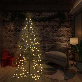 Kerstboom kegel 160 LED's binnen en buiten 78x120 cm